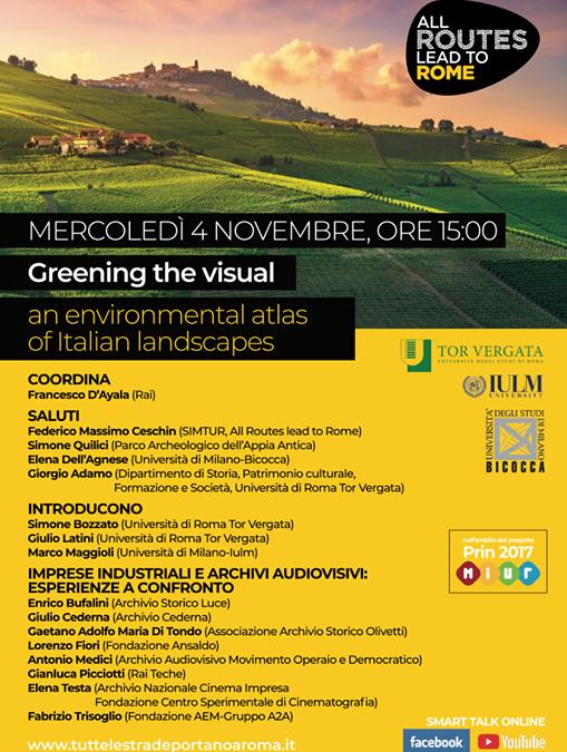 Greening the visual: un atlante ambientale dei paesaggi italiani